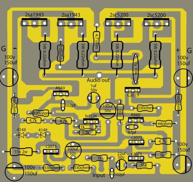 How to make transistor amplifier using 4 transostor? electronics