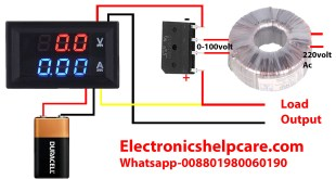 ampere meter voltmeter connection, electronics