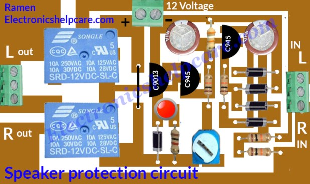 Speaker protection circuit diagram.