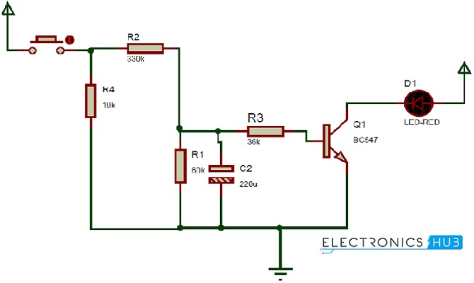 How UP/DOWN Fading LED Lights Circuit Works?