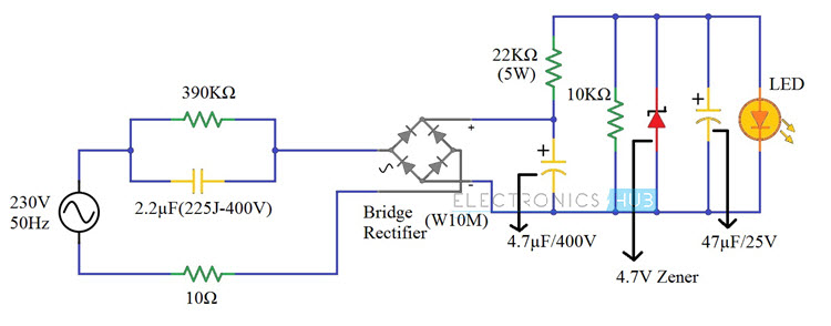 230v LED Driver Circuit Diagram, Working And Applications