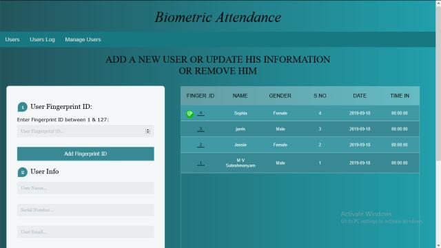IoT Based Fingerprint Biometric Attendance System_Manage users