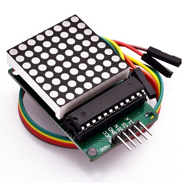 8x8 led dot with MAX7219 driver