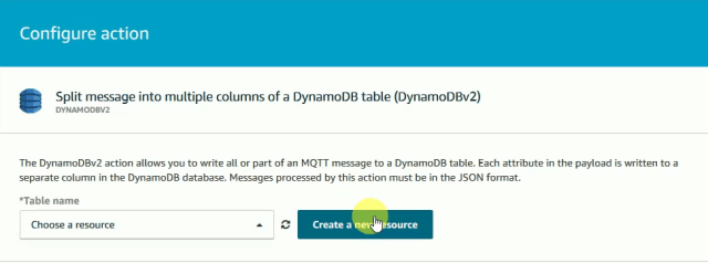 Create-amazon-dynamodb-resource