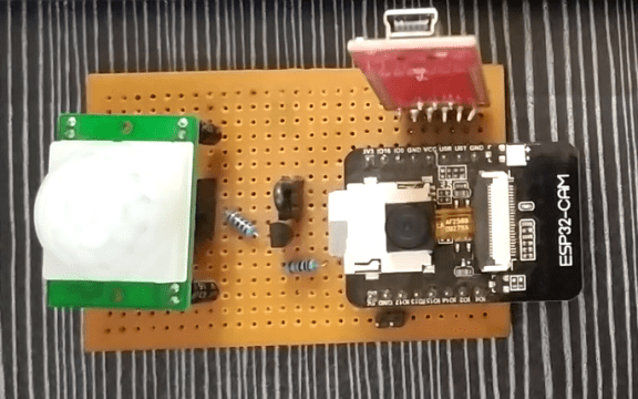 Vero Board with Components.