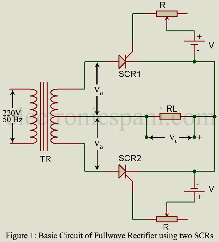 Thyristor Single Phase Control Circuit Diagram Controlcircuit ... on