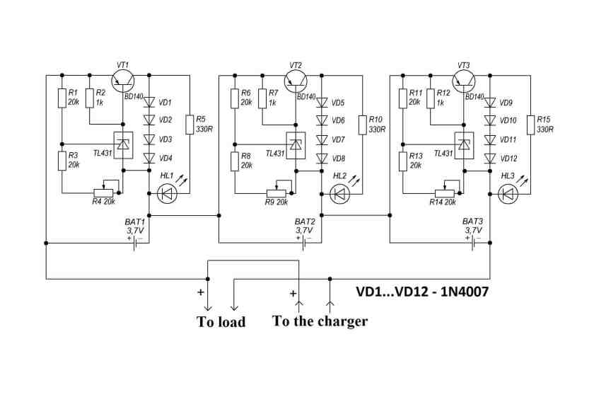 Make BMS for Lithium Ion Batteries Charging - Electronics Projects Hub