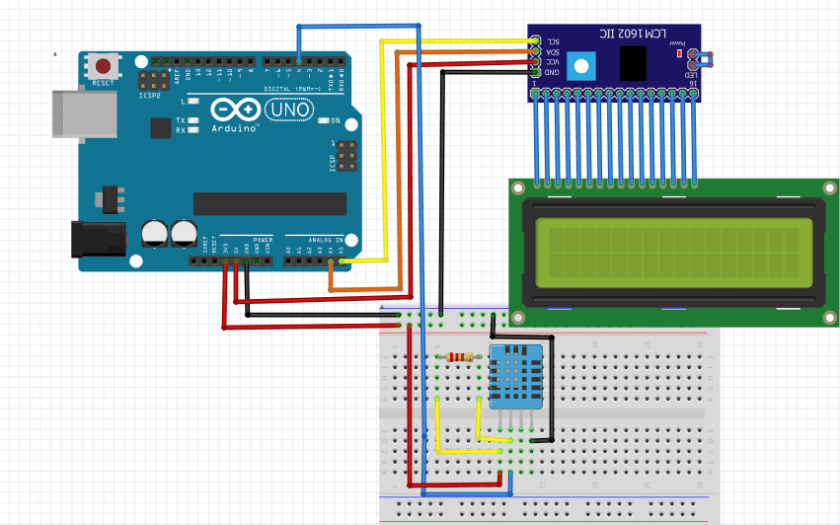 4 pin dht11 sensor arduino connections