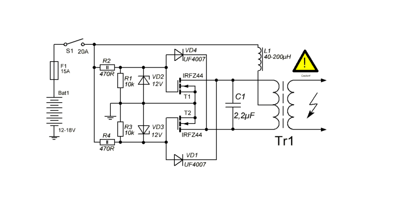 induction-heater-circuit Induction Heating Circuit Schematic on induction melting furnace schematic, tesla scalar schematic, induction forge high power circuit, heater schematic, igbt schematic,