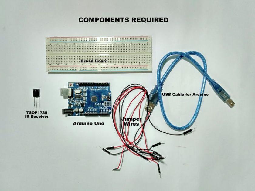 ir remote decoder components
