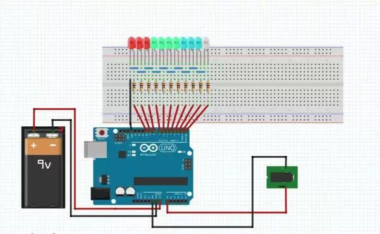vu meter circuit using arduino