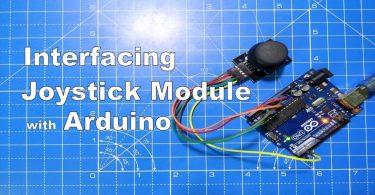 joystick module with arduino