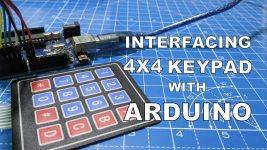 INTERFACING 4x4 KEYPAD WITH ARDUINO