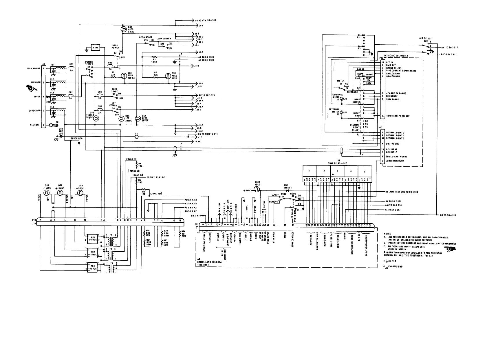 Fo 1 Afcs Bench Test Set Schematic Diagram Sheet 1 Of 4