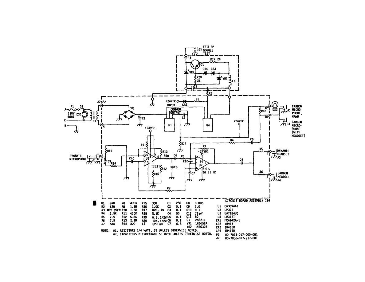 Figure 6 1 Schematic Diagram Of Oxygen Mask Headset Microphone And Flash Goggles Tester Type