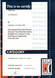 certificat gold sold secure