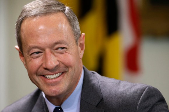 Maryland Gov. Martin O'Malley speaks during a roundtable interview in Annapolis, Md., Wednesday, Jan. 8, 2014, the first day of the 2014 legislative session. (AP Photo/Patrick Semansky)