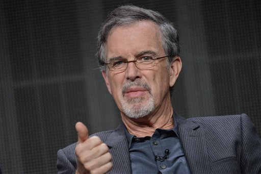 """Garry Trudeau speaks onstage during the """"Alpha House"""" panel at the Amazon 2014 Summer TCA on Saturday, July 12, 2014, in Beverly Hills, Calif. (Photo by Richard Shotwell/Invision/AP)"""
