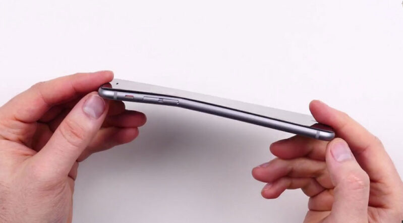 Safe method to fix bend on mobile phones