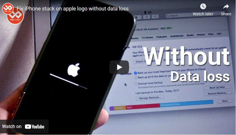 How to fix iPhone stuck on logo