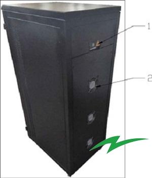 Stabilizator tensiune servomotor Electropower EP-TNS-60kVA-(48000W)-400V back