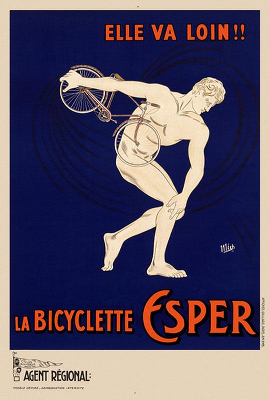 дискобол велосипед постер ретро франция