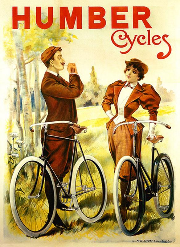 мужчина и девушка постер велосипед велосипеды романтика