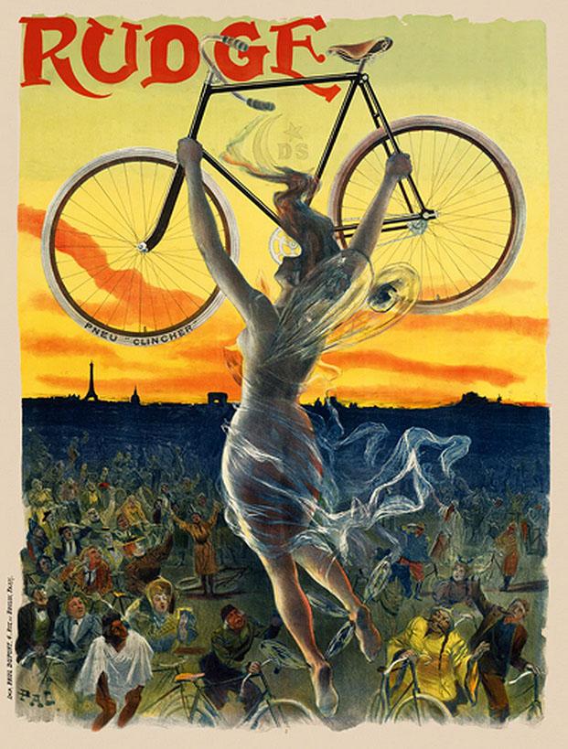 постер велосипед веломания франция