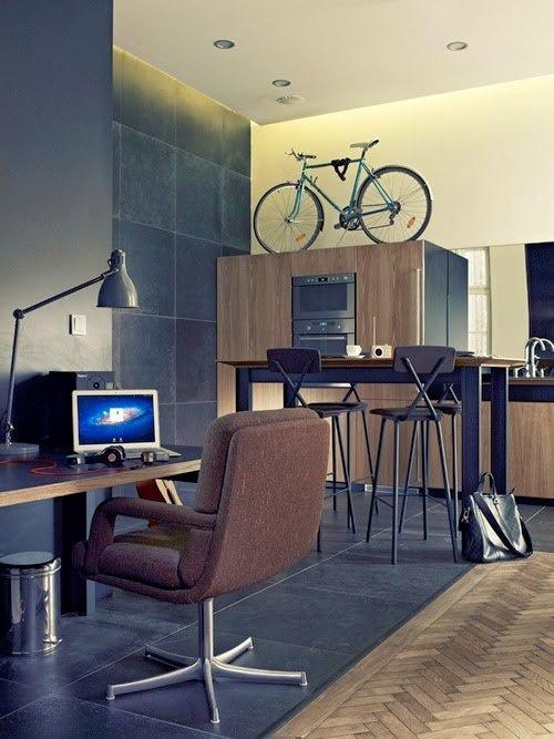 велосипед дизайн интерьера хранение велосипеда на шкафу