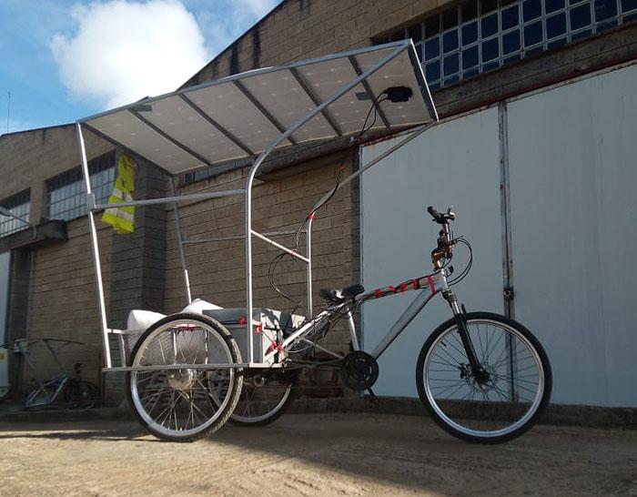Solar-E-Cycle электровелосипед на солнечной батарее