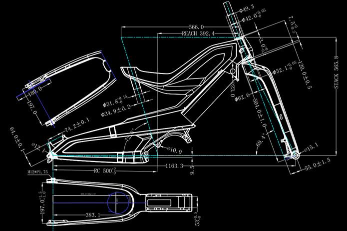 Электровелосипед Nireeka Prime карбоновая рама