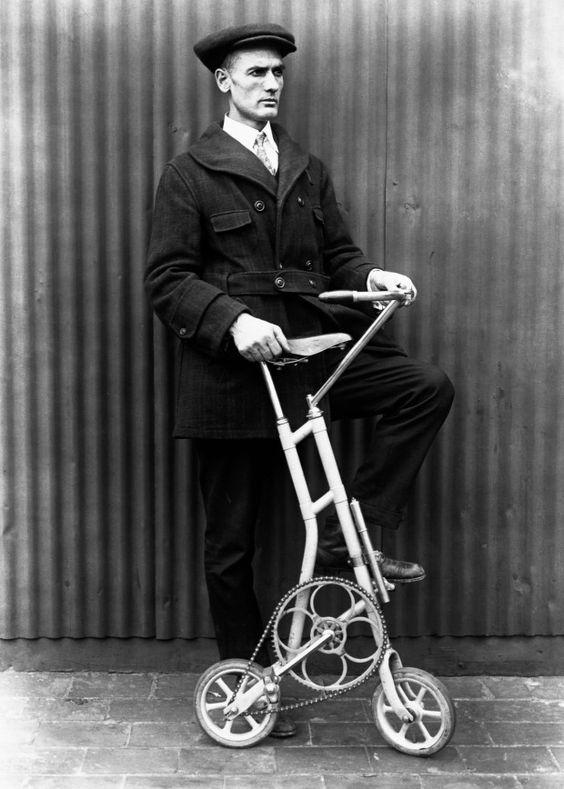 старинный микровелосипед
