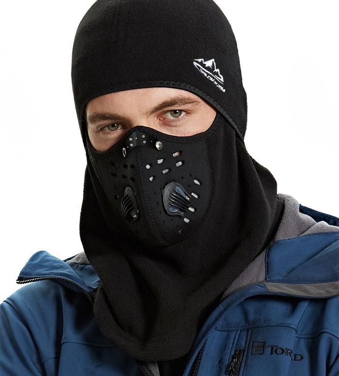 зимняя защитная маска велосипедиста