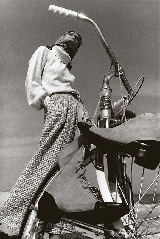 мода девушка дорожный велосипед