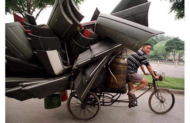 перевозка грузов на велосипеде китай