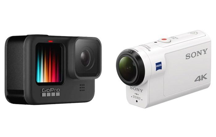 GoPro HERO9 Black & Sony FDR-X3000