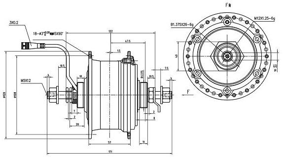 динамо-втулка Shengyi FLD01 чертеж