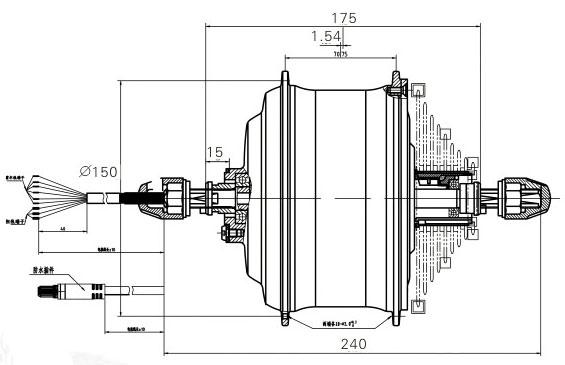 мотор-колесо DGW25C, DGW25S