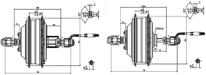 редукторное мотор-колесо DGWX2 чертежи