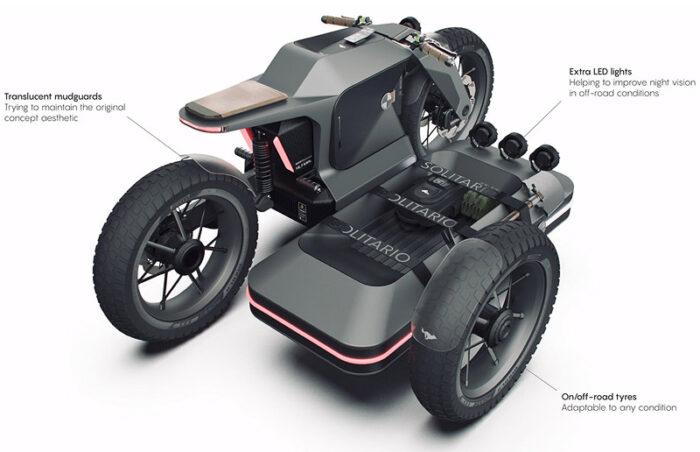 грузовой электромотоцикл для путешествий