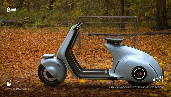 Электрический скутер Vespa 98 electric