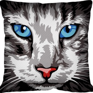 Coussin-canevas-chat