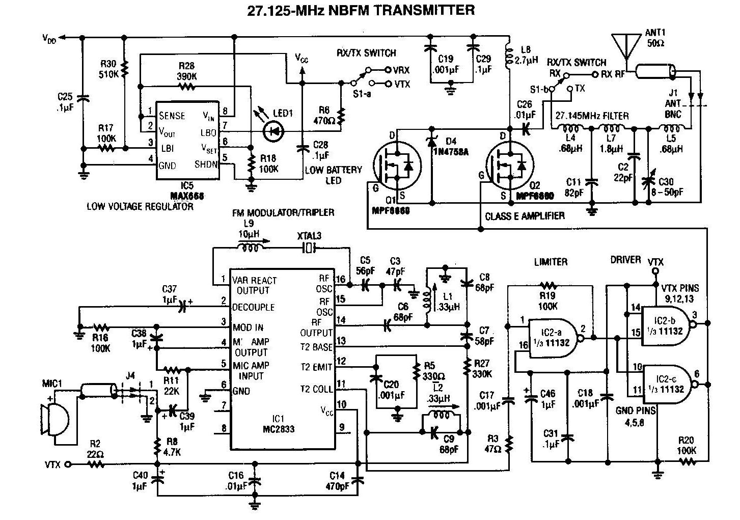 Radio Amplifier Schematics