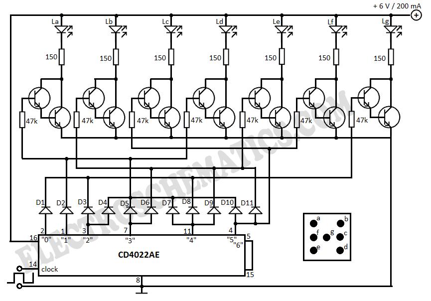 Electronic Dice Circuit