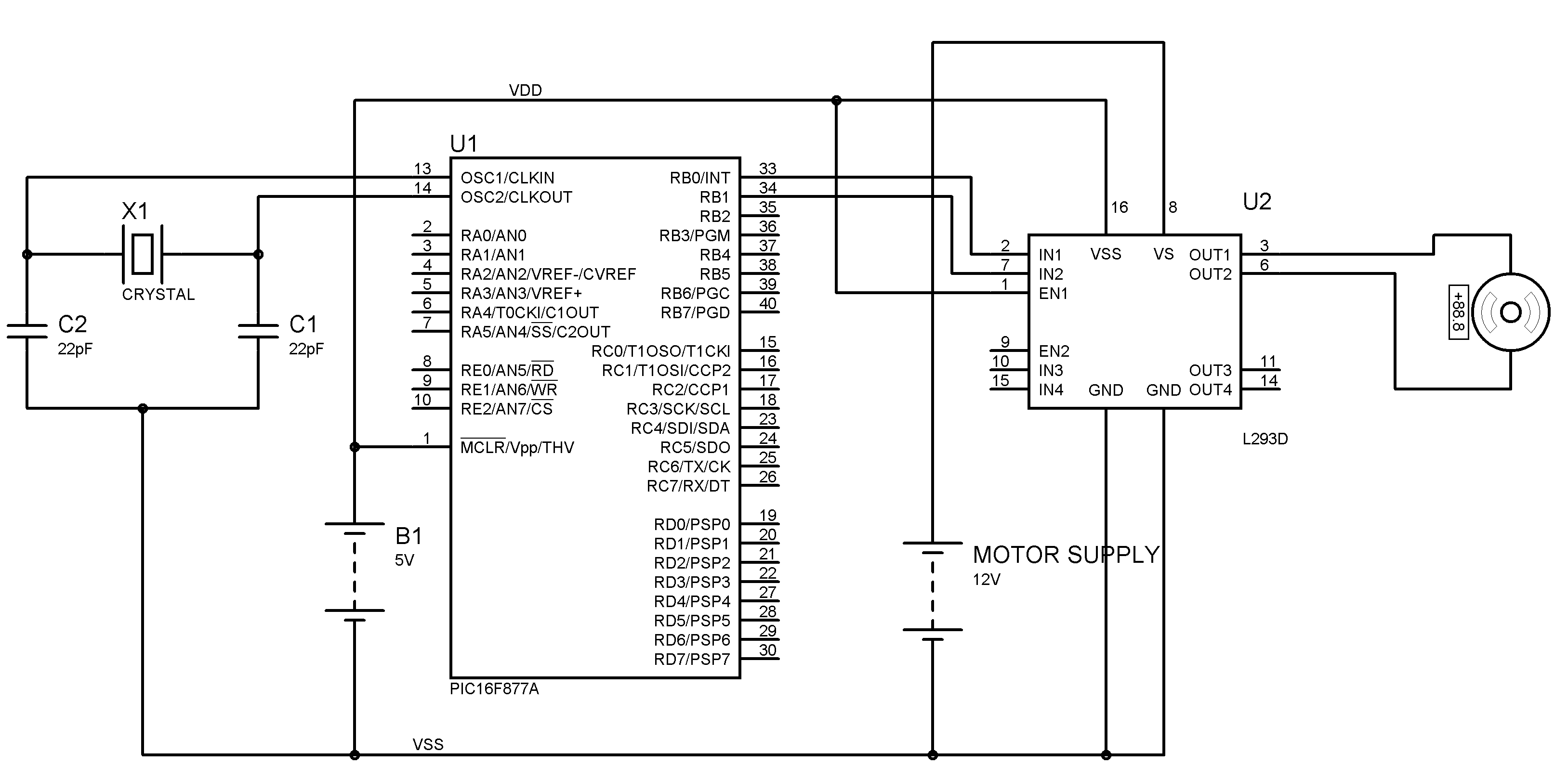 H Bridge Circuit Diagram Dc Motor