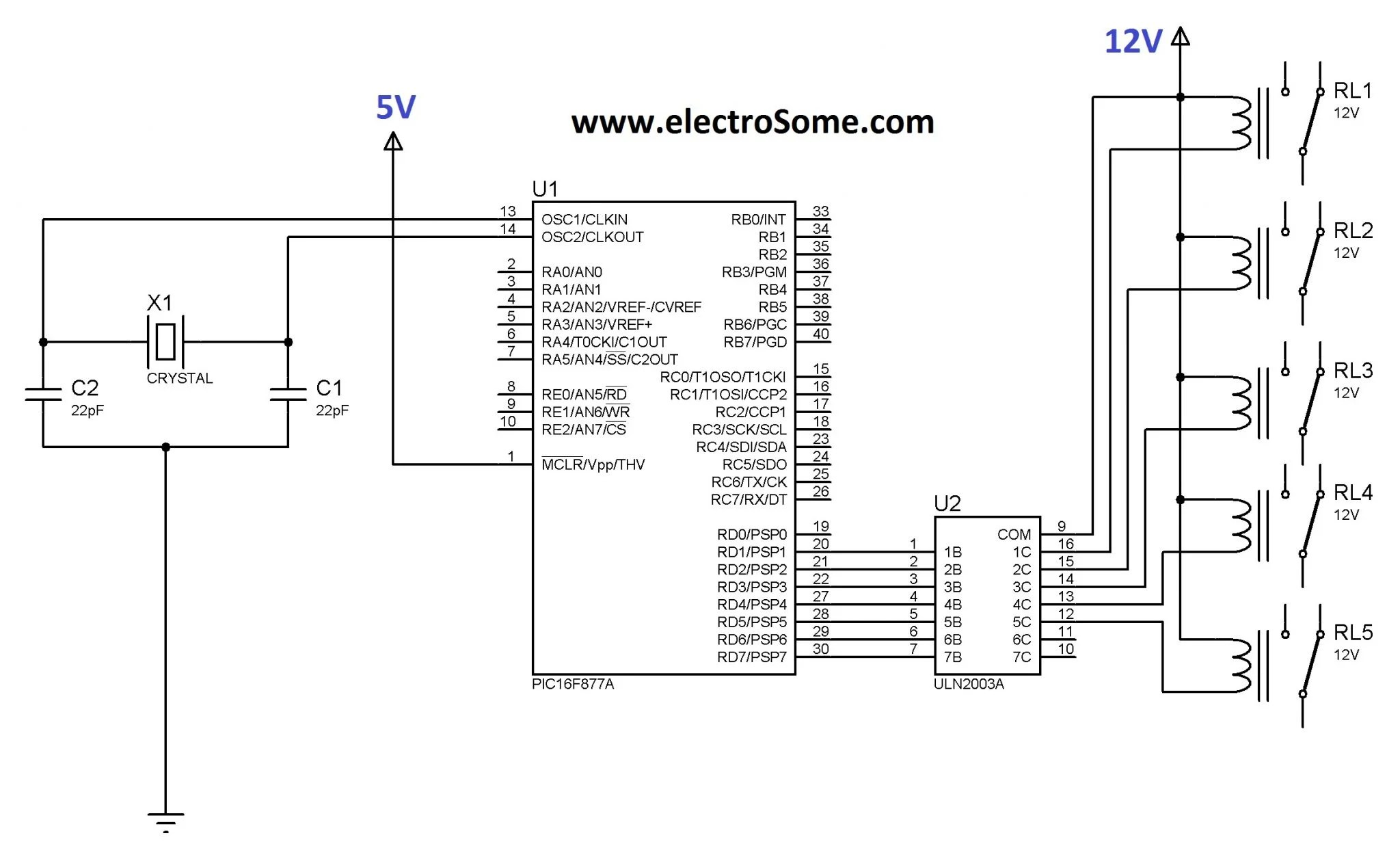Interfacing Relay With Pic Microcontroller