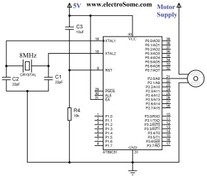 Interfacing Servo Motor with 8051 Microcontroller using