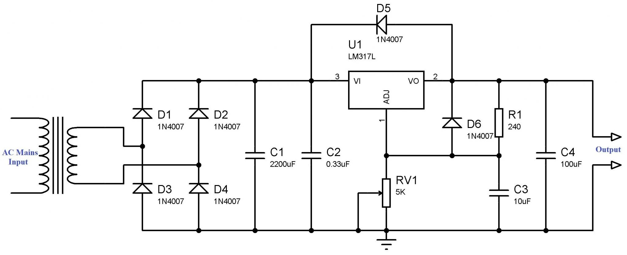 Power Supply Circuit 5v