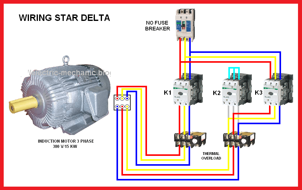 all about star delta starting of ship motors electro technical rh electrotechnical officer com star delta starter connection diagram star delta motor starter wiring diagram pdf