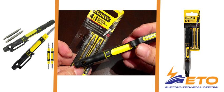 Stanley 4-in-1 magnetic pen screwdriver